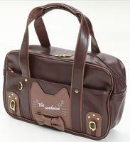 Himifashion Women Kawaii Vivi Little Cat Preppy Style Student Zipper PU Shoulder Bag JK Handbag