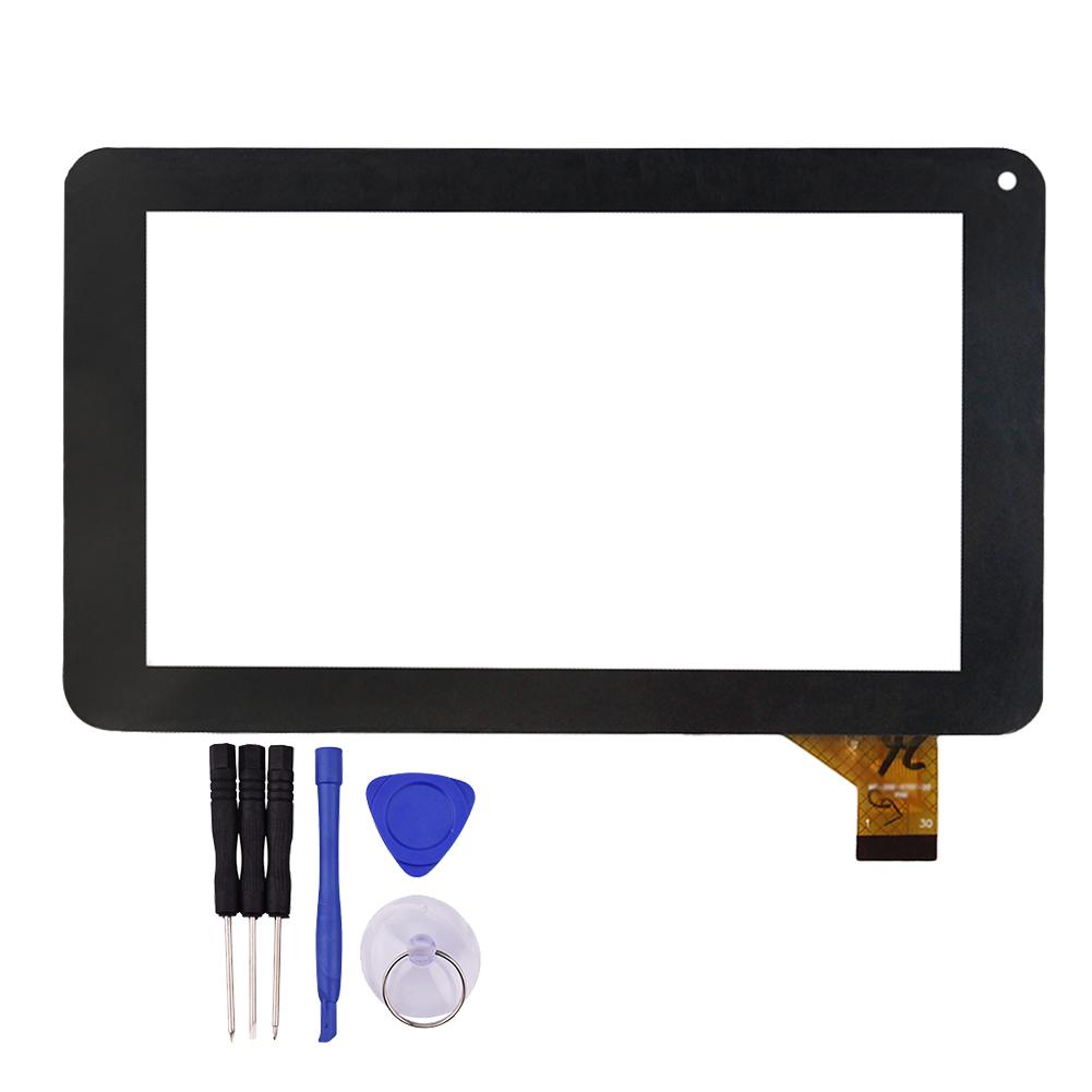 New 7 Inch Black Touch Screen for MF-309-070F-G Glass Sensor Digitizer Replacement with Free Repair Tools 5pcs set tested new original white black 7 9 inch for ipad mini 3 digitizer touch front glass lcd panels screen repair part