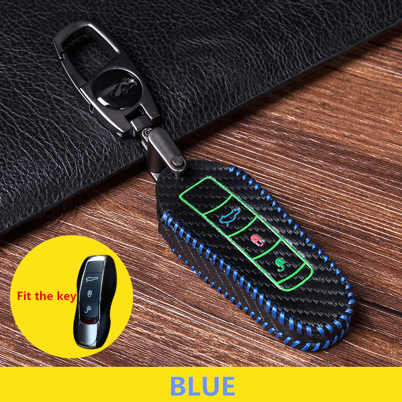 High quality Car keychain Key Case for Porsche 5911 970 981 991 92A  Leather Hand knitting Car Styling