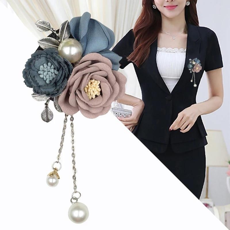 48d93056ee9 i-Remiel Handmade Flowers Tassels Brooch Women Upscale Brooches Sweet Fresh  Wild Wear Pins Cardigan