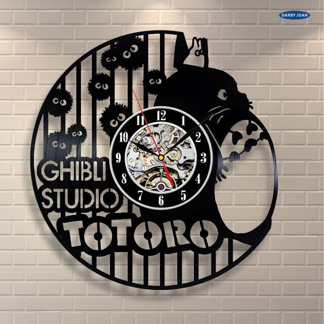 Studio Ghibli Totoro Vinyl Record Clock Style 1