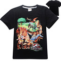 4 pieces/lot summer children's tee fashion dinosaur&Spider-Man style boys t-shirts classic Jurassic World&park shorts for childs