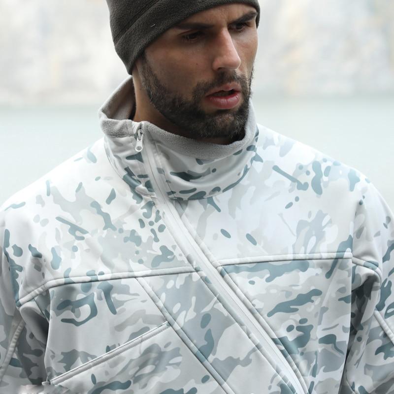 2019 NEW Alpine fleece softshell jacket tactical Multicam hoody jacket Spring warm slide zipper jacket Mens Camouflage Jacket