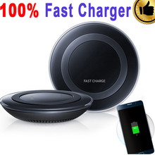 100% Original eAmpang Fast Wireless Charger for Samsung Galaxy Note 5 7 S6 S6 edge Plus S7 S7 Edge Plus with Free Clear Cover