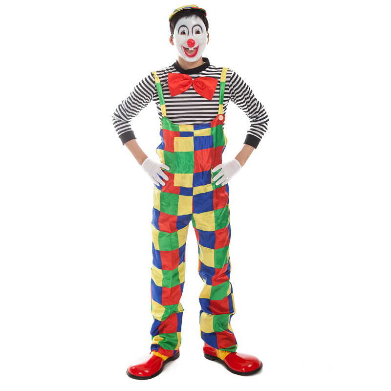 halloween adult clown costume for cosplay costume party adult bar decoration christmas party clown suit