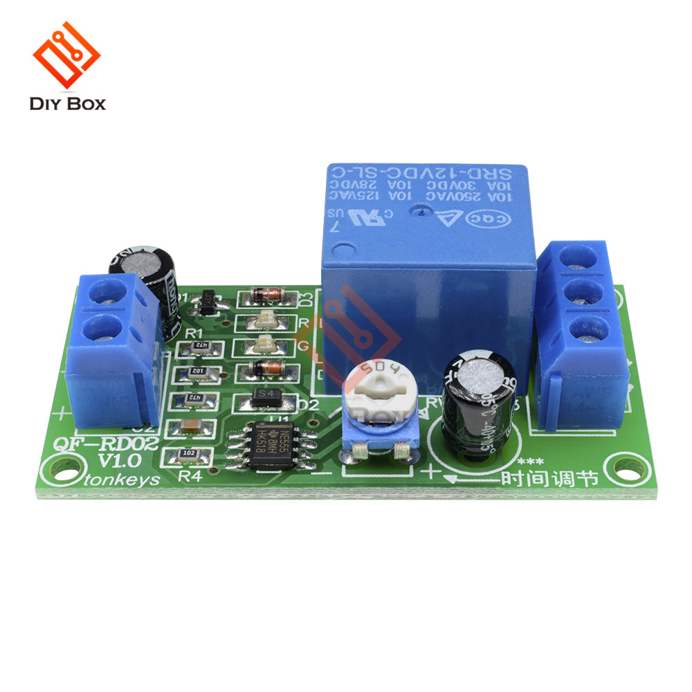DC 12V Conduction NE555 Delay Timer Switch Adjustable Time