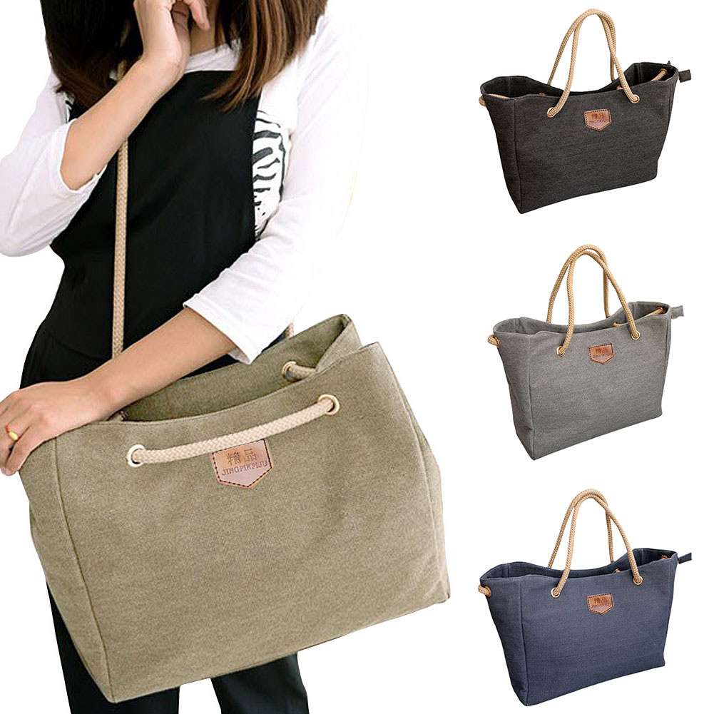Hot Sale New Female Package Korean Fashion Simple Casual Canvas Shoulder Bag Lady Diagonal Package Popular 4 Colors LBY2017 2018 new korean version of the shoulder diagonal bag lady fashion women s bow hand packet