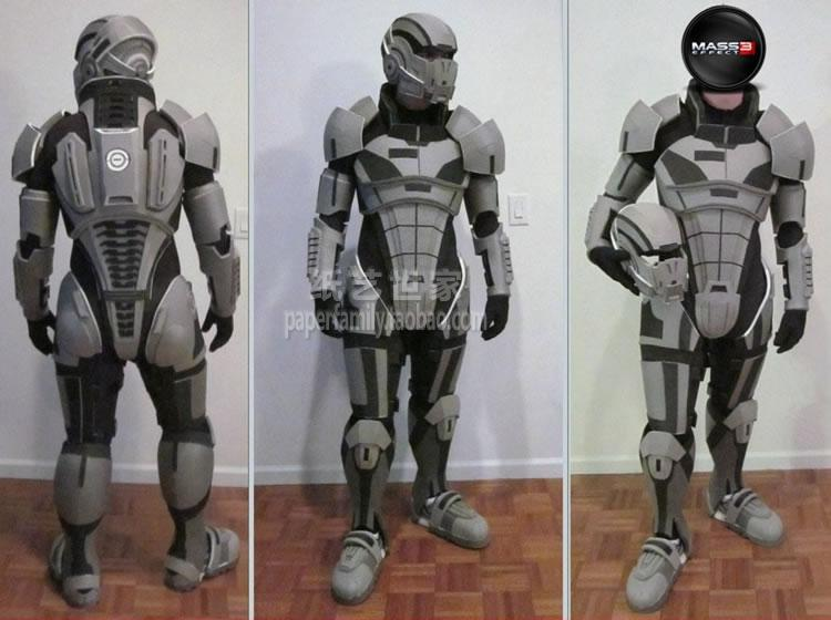 Mass Effect3 N7 Armor EVA Resin Board Wearable 3D Paper Model 1:1 Body Head Armor