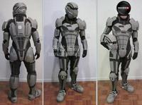 Mass Effect3 N7 Armor EVA Resin Board Wearable 3D Paper Model 1:1 Body Head Armor