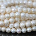 Charms natural freshwater white pearl loose beads  round hot sale factory price jewelry making 15inch B1374