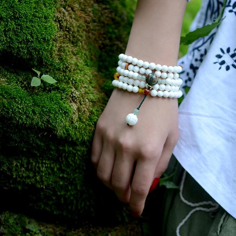 यूनिसेक्स लंबे चियान हार शैली के लिए सफेद खोल मनके कंगन डेज़ी मनका आकर्षण aventurine लाल पत्थर ड्रॉप विंटेज गहने 2018