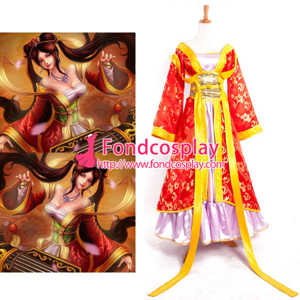 Lol Sona Buvelle Maven des cordes princesse robe jeu Cosplay Costume sur mesure [G892]