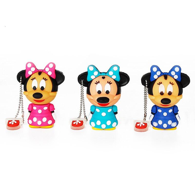 Image 4 - Cute Mickey&Minnie Usb Flash Drive 4GB 8GB 16GB Popular Pen Drive 32GB 64GB 128GB Pendrive U Disk 2.0 Cartoon Gift Free Shipping-in USB Flash Drives from Computer & Office