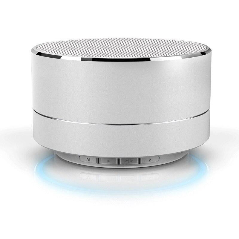 Subwoofer Bluetooth <font><b>Speaker</b></font> Metal Mini Portable Wireless Light HIFI Heavy Bass Music MP3 <font><b>Smart</b></font> Player Easy Pair To <font><b>Phone</b></font> PC Ipad