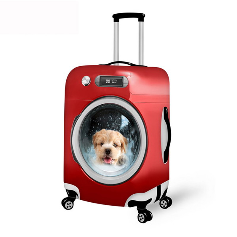 NOISYDESIGNS Travel Trolley Case Cover 3D Animal Print Travel Suitcase Covers Waterproof Luggage Covers Accessory Bags
