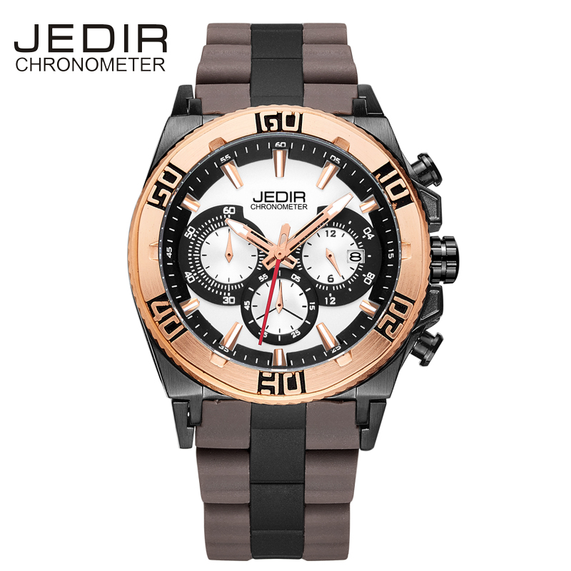 JEDIR Military Watch Men Silicone Mens Watches Top Brand Luxury Sport Quartz Wristwatches Clock Men Auto Date Relogio Masculino top brand sport men wristwatch male geneva watch luxury silicone watchband military watches mens quartz watch hours clock montre