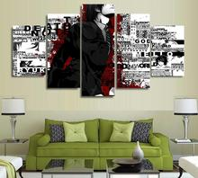 5 Panels Wall Art 5 Panels Wall Art Death Note Anime Modern Paintings Art Canvas Paintings Poster Unframed 02