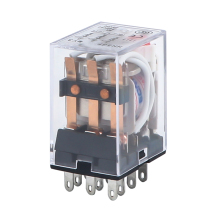 HH53P MY3NJ Micro Mini Electromagnetic Relays AC 220V AC 110V DC 24V DC 12V 5A Power Relay Switch Silver Contacts 11 Pin LED