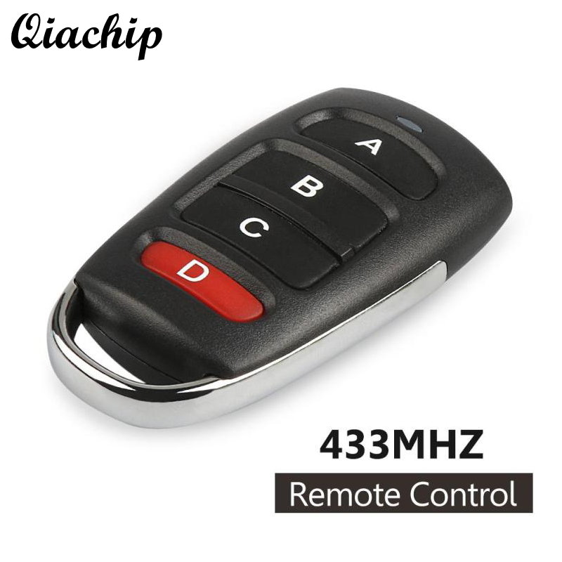 QIACHIP Wireless Remote Control Switch 4 Buttons 433mhz 12V Copy Cloning Electric Garage Door Security Alarm Control Fob Car Key
