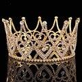 High End Mulheres Tiara Austríaco Rhinestone Da Coroa da Rainha de luxo Da Noiva enfeites de cabelo Hairband Acessórios Para Festa de Casamento