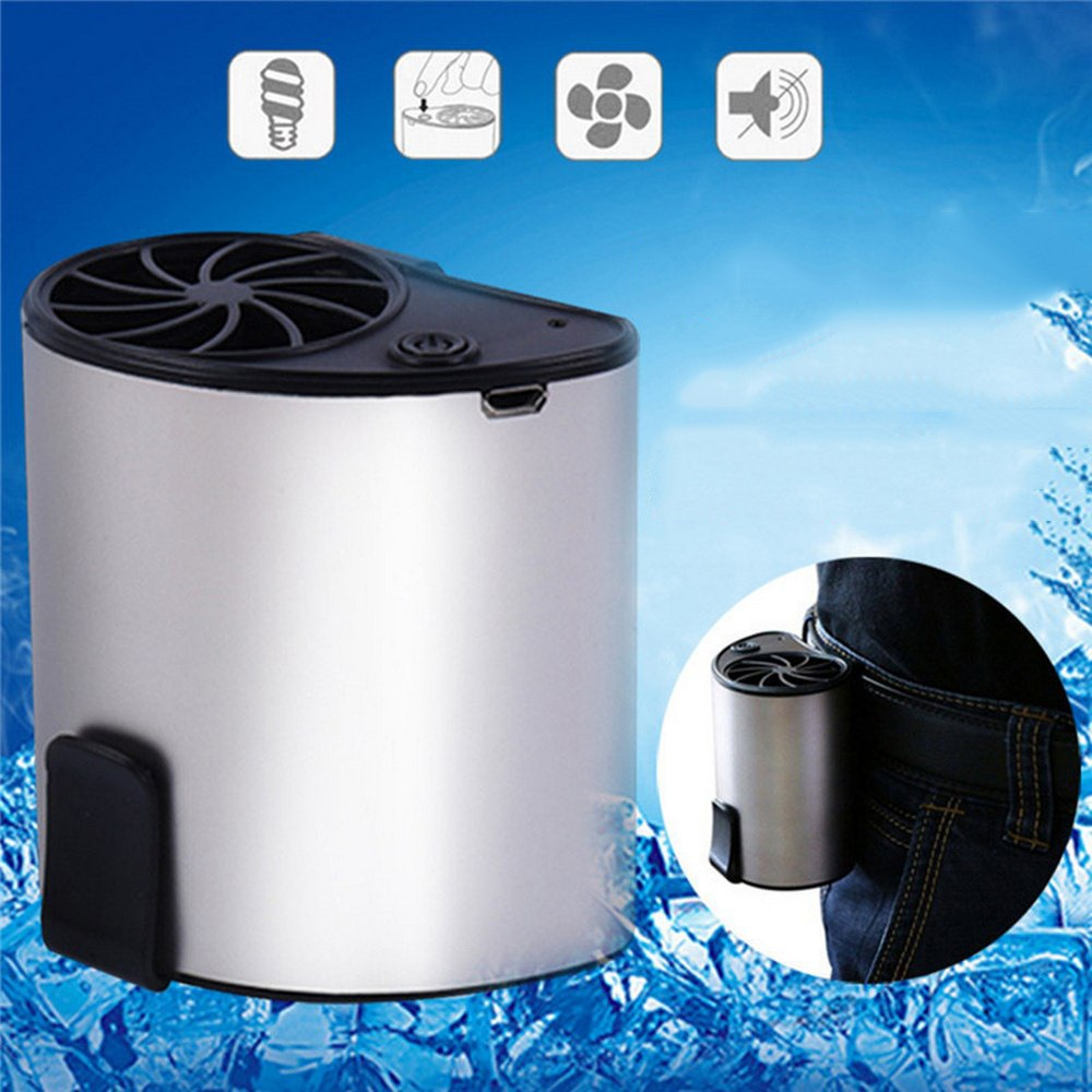 Portable USB Waist Fan Hanging 3 Speed Fan Mobile Air Conditioning  Cooling Belt Suspension For Outdoor Waist Fan Home