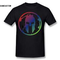 SAMCUSTOM Men S Spartan 3D Print Fashion Funny Custom Print Slim Fit T Shirt Top Quality