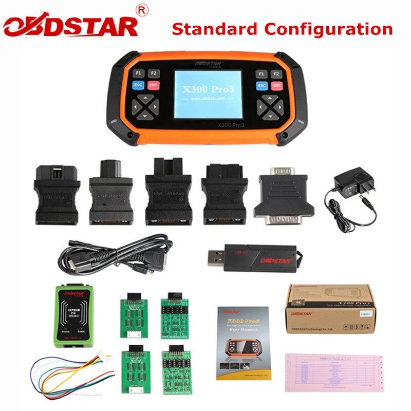 OBDSTAR X300 PRO3 Master Key Configurazione Standard Immobilizzatore di Regolazione del Contachilometri EEPROM per Toyota G & H Chip Tutte Le Chiavi Perse