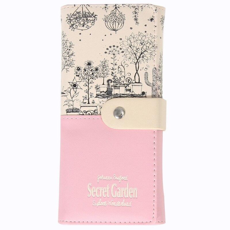carteiras das senhoras bolsa cartão Interior : Bolso Interior do Zipper, suporte de Cartão