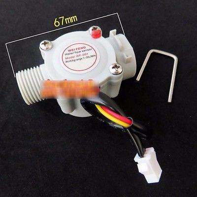 F026 G1/2 Water Flow Sensor Hall Flow Sensor Switch Flow Meter Flowmeter Water Control Counter DN15 1-30L/min