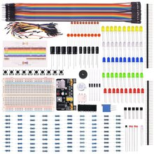 Miroad Electronic Fans Bundle Learning Kit for Arduino Raspberry pi with Breadboard Cable Resistor, Capacitor, LED  K66