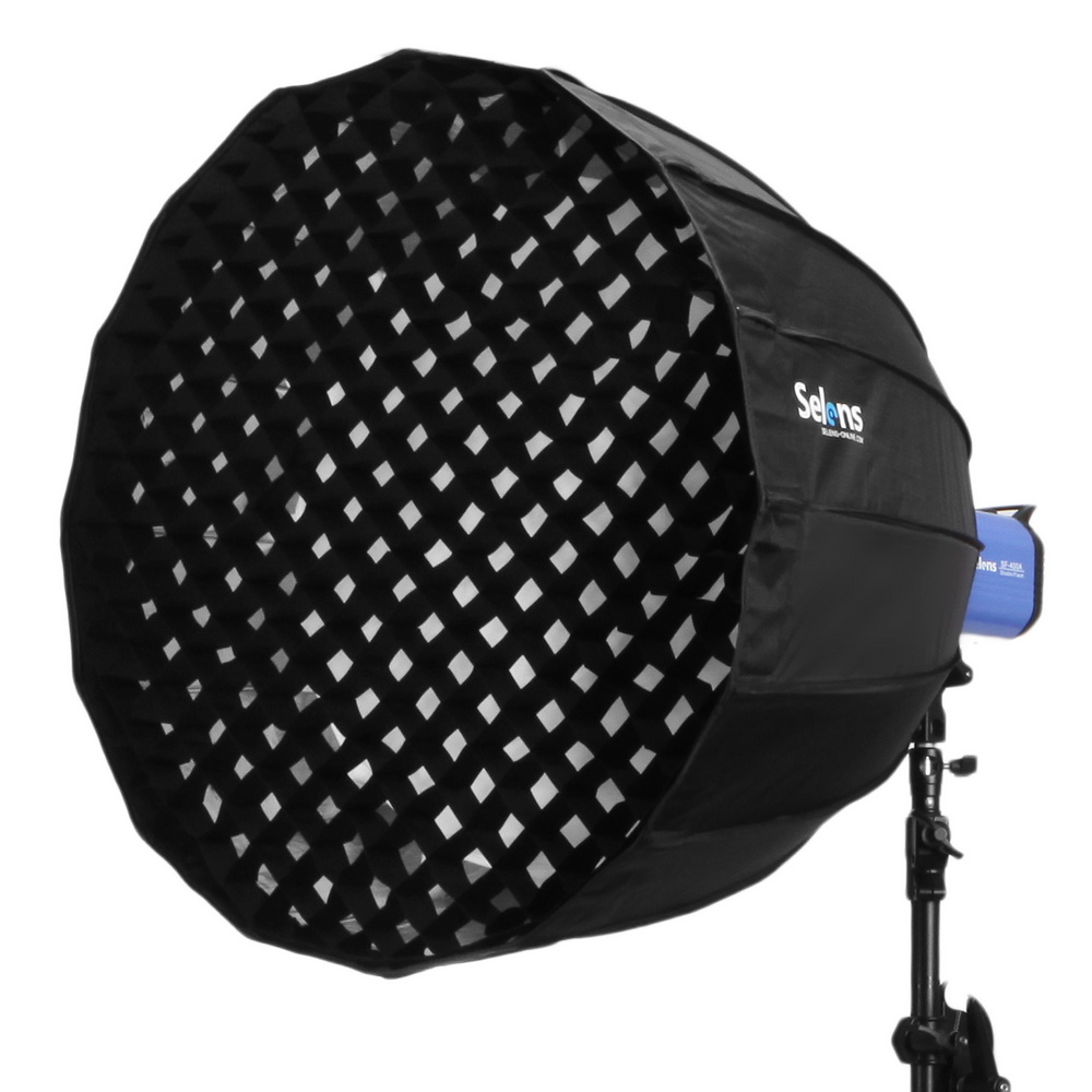 120cm/90cm/105cm 16-Rib Deep Parabolic Umbrella Hexadecagon Softbox With Honeycomb Quick Release For Flash Speedlight Speedlite