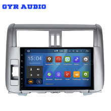 Android 5.1 Car GPS radio NAV player for Toyota land cruiser Prado 150 2010-2013 with Quad Core 1024*600 auto multimedia Stereo