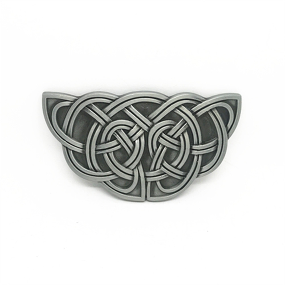 Western Cowboy Belt Buckle Pattern Kai And Special Vintage Zinc Alloy Smooth Button Men's Classic Button For 3.8 Belts