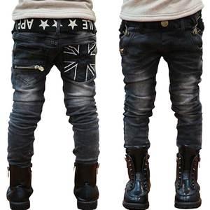 Jeans Trousers Teenage Black Baby-Boys Kids Denim Children Pant Warm Spring Cotton Full-Length