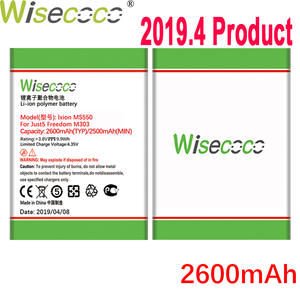 WISECOCO Battery for Tracking-Code Mobile-Phone Freedom 2600mah M303 Just5 Latest-Production