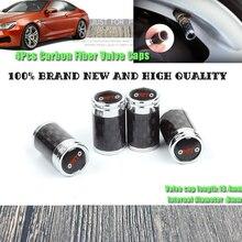 4Pcs 100% new Carbon fiber black car Tire Wheel Valve Covers for vw audi bmw Kia Hyundai Nissan Mazda Volvo toyota Lexus