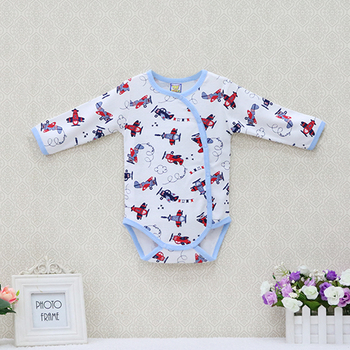 2019 New Little Q Long sleeve integrated suit of newborn cotton boys and girls' clothing autumn children's printed clothing 1