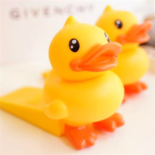 Baby Cartoon Yellow Duck Safety Door Stop Edge Corner Child Guard Door Stopper Holder Lock Safety Finger Protector Free Shipping