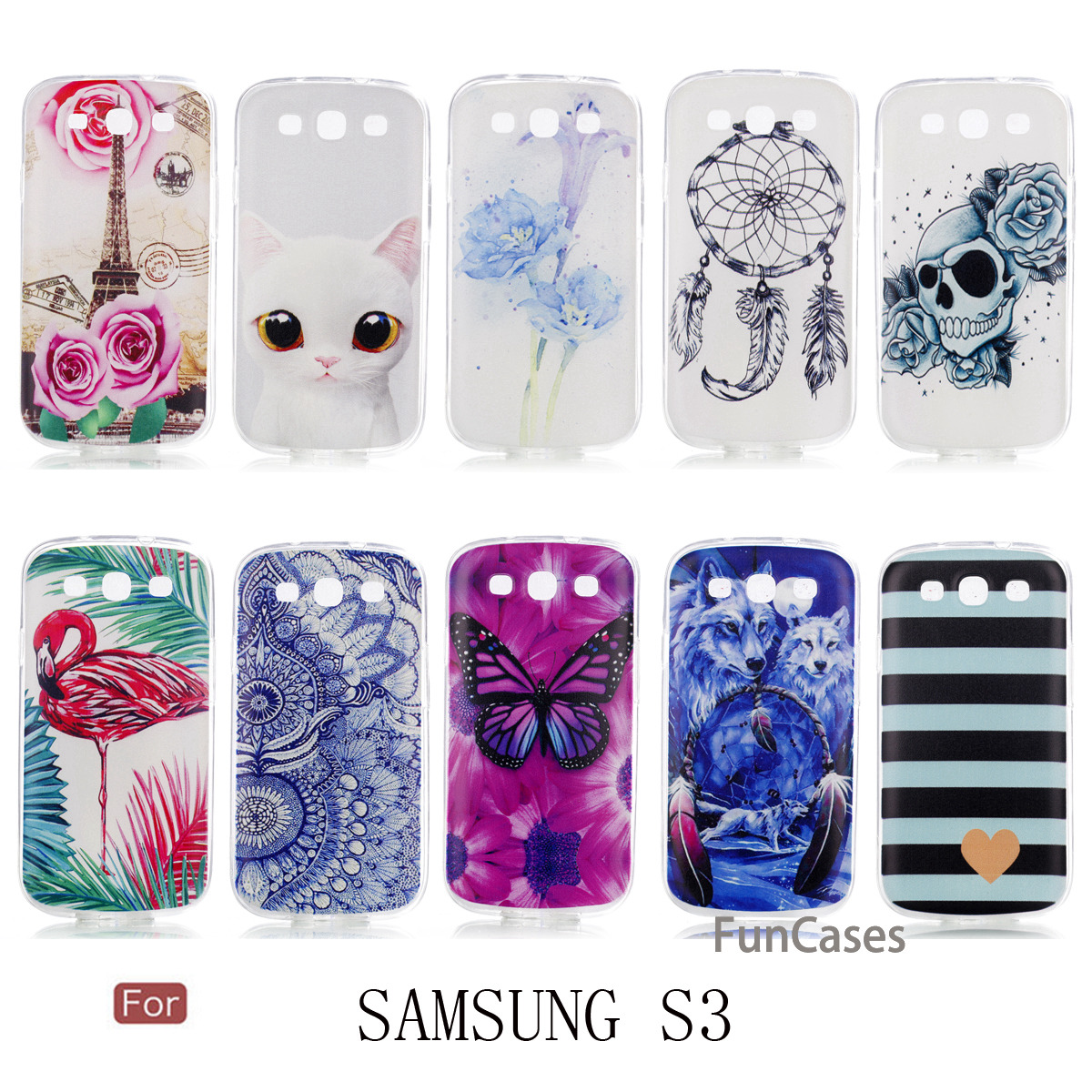 MKSUP Butterfly Case sFor Funda Samsung S3 Soft TPU Phone Case Fundas Squishy Flip Case  ...