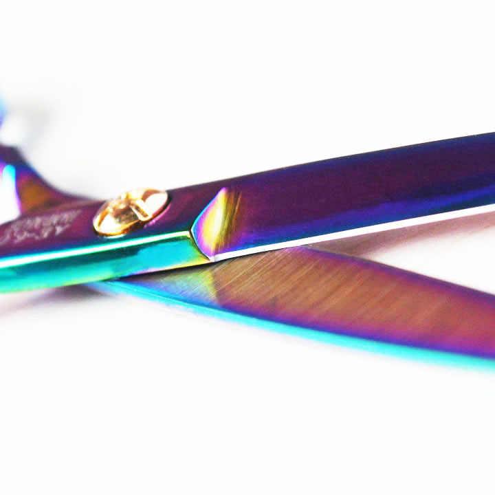 Titânio roxo 6.0 polegada de alta qualidade cabeleireiro tesoura frete grátis produto do salão cabelo venda quente tesouras do cabelo