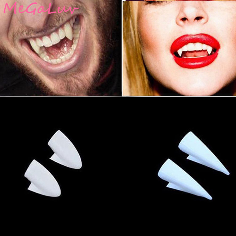 4pcs Halloween Decoration Vampire Teeth Fangs Dentures Props Halloween Costume Props Party Favors Mask Holiday DIY Decors Horror(China)