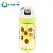 CCUBERLE Children's Sport Bottle 450ml Kids Water Bottle With Straw ABS Plastic Portable Bottle Drinkware Climbing Camp Bottles