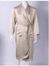 Для мужчин Love шелковые тяжелые шелковые пижамы с длинными рукавами халат длинный шелковый халат шелк одежда (домашнего интерьера большой код 1 -12