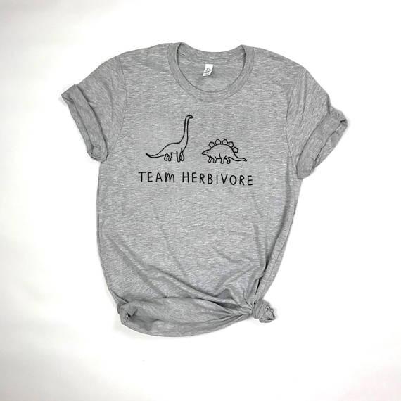 TEAM HERBIVORE TEE dinosaur t shirt Women Funny Fashion Clothes tees tshirt Female Short Sleeve Crewneck Tumblr  t-shirt Футболка