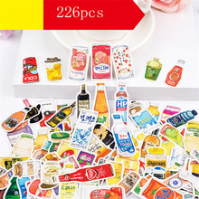226pcs/packs drinks Stickers scrapbooking planner kids girls notebook cute kawaii beauty DIY handbook sticker decoration