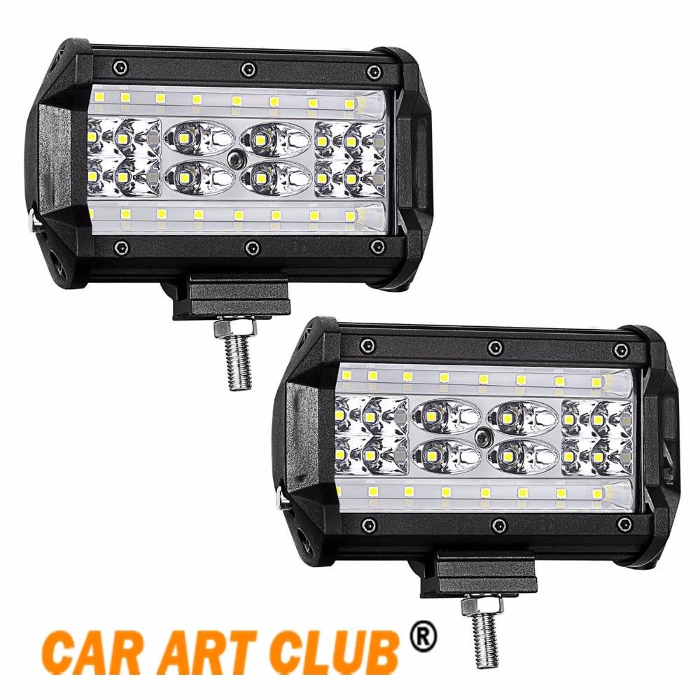 5/'/' 84W LED Work Light Flood Spot Off-Road 4WD Car Roof 12V Truck Boat SUV Lamp
