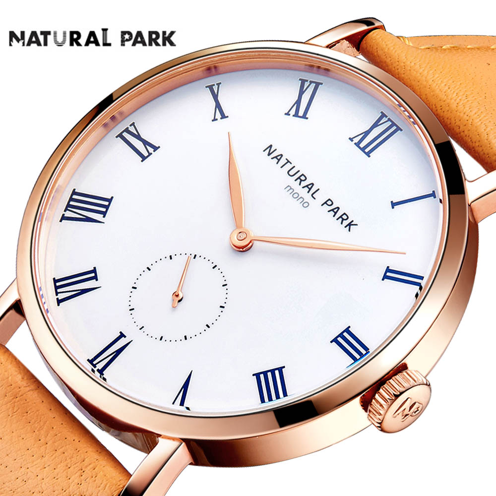 Simple Business Men Watch Japanese Quartz Movement Fashion Casual Wristwatches Rose gold case White dial Soft Leather Strap 2017 corgeut 44mm wristwatches rose gold case white dial coffee leather strap hand winding 6498 water resistant men watches cm2005b