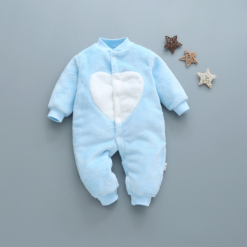newborn baby clothes soft flannel toddler baby jumpsuit long sleeve winter cotton infant girls clothes cute warm newborn romper цена