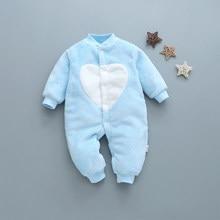93181f90da Bebé recién nacido ropa de bebé de franela suave bebé mono de manga larga  de algodón de invierno Bebé niñas ropa caliente lindo .