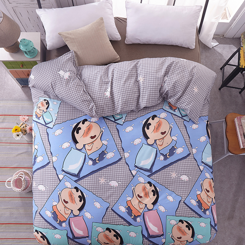 Cartoon Crayon Shin-chan Duvet Cover Twin Full Queen King Single fashion comfortable for kids boy girl lovely Quilt Cover
